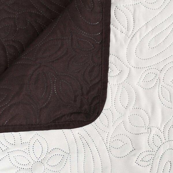 vidaXL divpusējs gultas pārklājs 230x260 cm, stepēts, krēmkrāsa, brūns cena