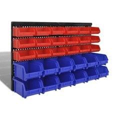 Plastmasas kastes garāžai stiprināmas pie sienas 30 gab. цена и информация | Механические инструменты | 220.lv