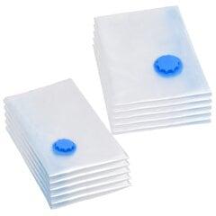 vidaXL vakuuma maisi apģērba glabāšanai, 2 izmēri, 10 gab. cena un informācija | Pakaramie un apģērbu maisi | 220.lv