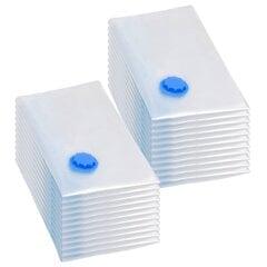 vidaXL vakuuma maisi apģērba glabāšanai, 20 gab., 80x60 cm cena un informācija | Pakaramie un apģērbu maisi | 220.lv