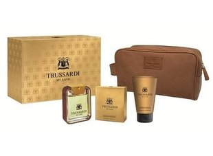 Комплект Trussardi My Land: edt 100 ml + гель для душа 100 ml + косметичка