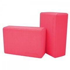 SportVida Eco EVA Foam Jogas bloku komplekts (2gab.) 23 х 15 х 7.6 см (100gr. gab.) Rozā cena un informācija | Jogas preces | 220.lv