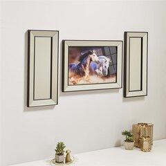 Triju daļu reprodukcija Kalune Design Savvaļas zirgi 552NOS2108 cena un informācija | Gleznas | 220.lv