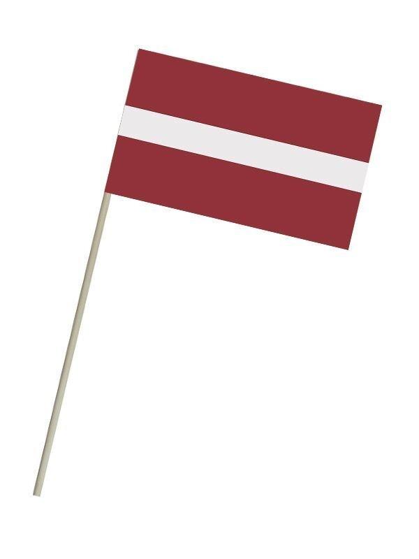 Latvijas karogs, 17,5x11 cm