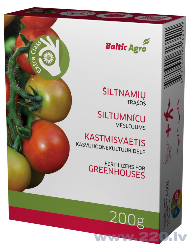 Baltic Agro Mēslojums siltumnīcām, 200 g  4.09